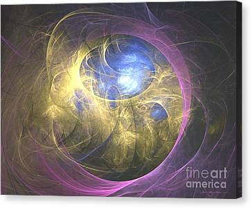 Towards The Surface - Abstract Art Canvas Print by Abstract art prints by Sipo