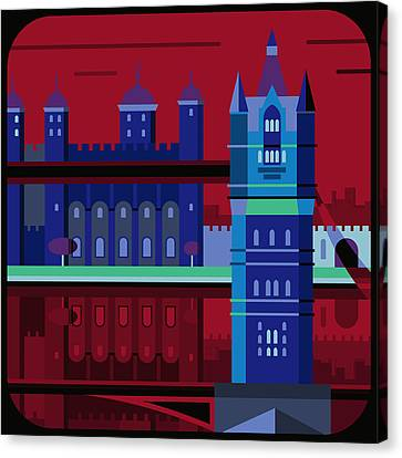 Tower Bridge And The Tower Of London, United Kingdom Canvas Print by Nigel Sandor
