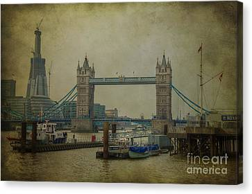 Canvas Print featuring the photograph Tower Bridge. by Clare Bambers