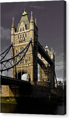 Tower Bridge Canvas Print by David Pyatt