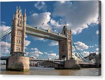 Tower Bridge Canvas Print by Paul Biris