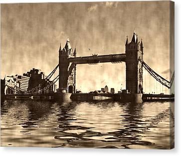 Tower Bridge Canvas Print by Sharon Lisa Clarke