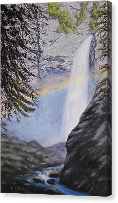 Tower Falls Canvas Print