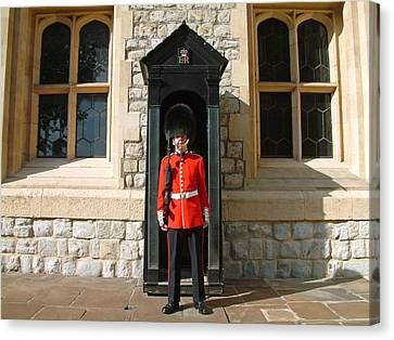 Tower Guard London England Canvas Print by Joseph Hendrix