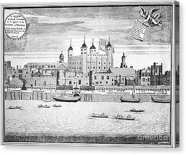 Row Boat Canvas Print - Tower Of London, 1715 by Granger