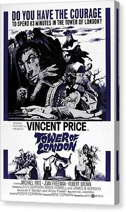Tower Of London, Vincent Price Top Canvas Print by Everett