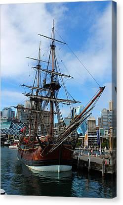 Towering Ship Canvas Print by Harlan Fijal-Campbell