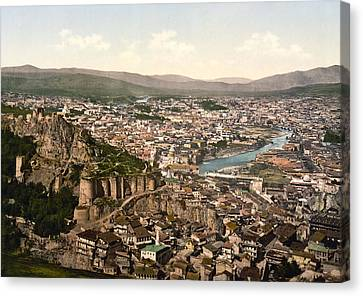 Town Fortress In Tbilisi - Georgia Canvas Print by International  Images