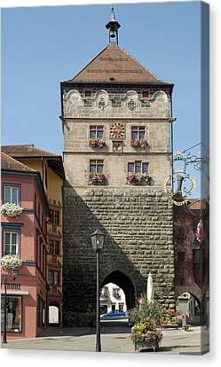 Town Gate Schwarzes Tor In Rottweil Germany Canvas Print by Matthias Hauser