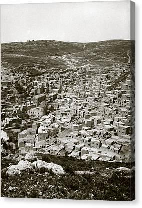 Town Of Es Salt, Ancient Jabesh-gilead Canvas Print by Everett