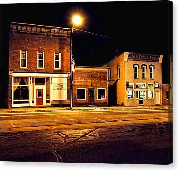 Town Street At Night Canvas Print
