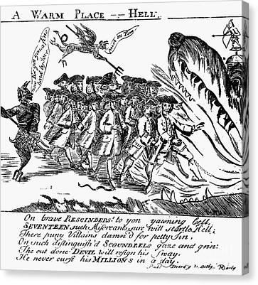 Townsend Act Cartoon, 1768 Canvas Print by Granger