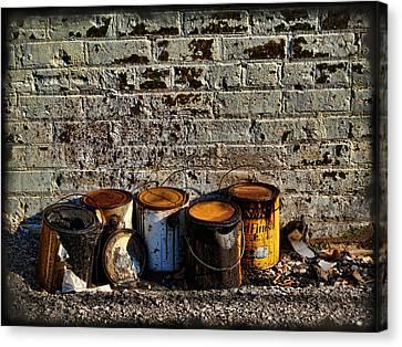 Toxic Alley Grunge Art Canvas Print by Kathy Clark