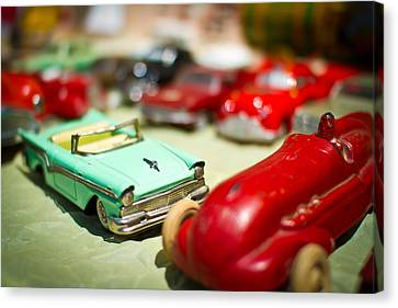 Field Canvas Print - Toy Car Traffic Jam by Andres Leon