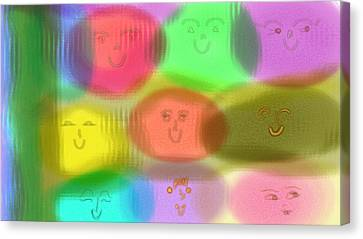 Toy Faces Canvas Print by Rosana Ortiz
