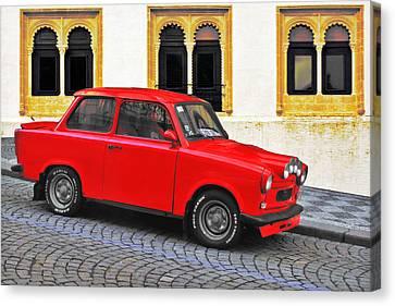 Antique Automobiles Canvas Print - Trabant Ostalgie by Christine Till