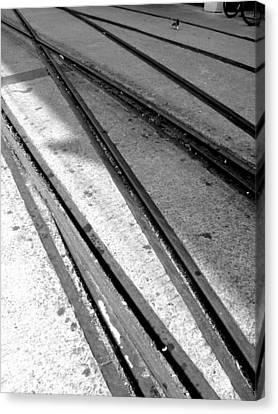 Tracks Canvas Print by Roberto Alamino