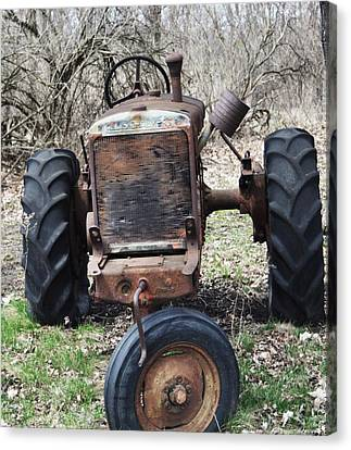 Tractor-1 Canvas Print by Todd Sherlock