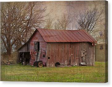 Tractor Barn Canvas Print by Lisa Moore