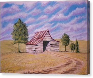 Tractor Shed Canvas Print by Stacy C Bottoms