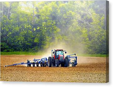 Tractor Work Canvas Print by Bill Tiepelman