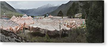 Traditional Buddhist Prayer Flags Canvas Print by Phil Borges