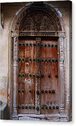 Traditional Carved Door Canvas Print by Aidan Moran