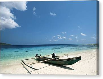 Jaco Canvas Print - Traditional Fishing Boat, Timor -leste by Louise Murray