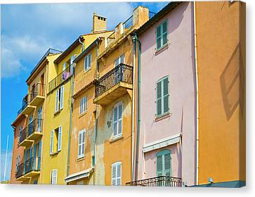 St.tropez Canvas Print - Traditional Houses by John Harper