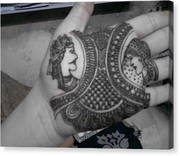 Traditional Mehndi Designs Canvas Print