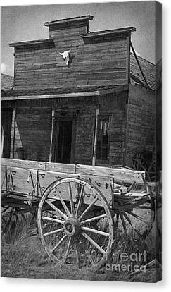 Trail Town In Cody Wyoming Canvas Print by Janeen Wassink Searles