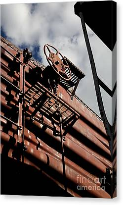 Train Car Canvas Print by Leslie Leda