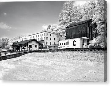 Canvas Print featuring the photograph Train Depot by Mary Almond