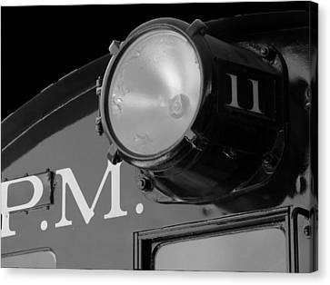 Canvas Print featuring the photograph Train Headlight by Darleen Stry