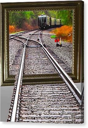 Train Oof Canvas Print by Joe Granita