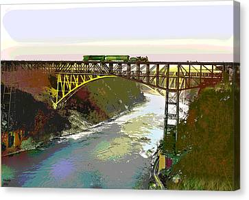 Train Trussel Canvas Print by Charles Shoup