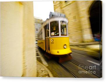 Tram Canvas Print by Andre Poling