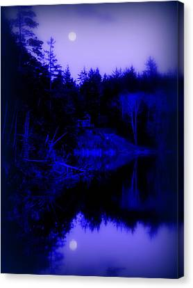 Tranquil Blue Moons Canvas Print by Cindy Wright
