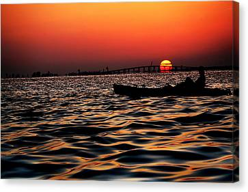 Canvas Print featuring the photograph Tranquil Sea by Jalai Lama