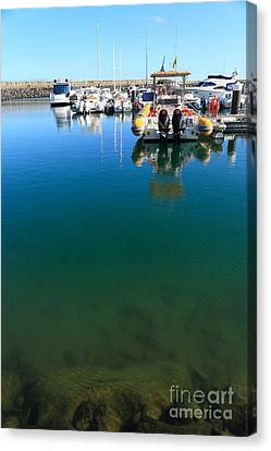 Tranquility At The Marina Canvas Print by Gaspar Avila
