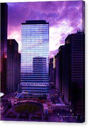 Transalta Building Purple Canvas Print