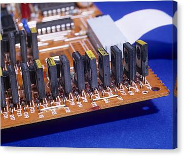 Transistors And Diodes Canvas Print by Andrew Lambert Photography