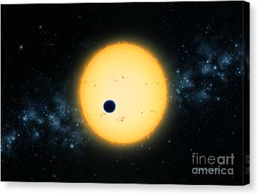 Transit Of Hd 209458 Canvas Print by Lynette Cook