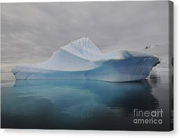 Translucent Blue Iceberg Reflection Canvas Print by Mathieu Meur