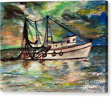 Trawling Canvas Print by Isabella F Abbie Shores FRSA