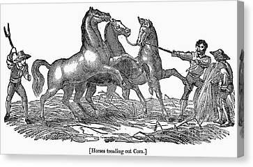 Treading Corn, 1833 Canvas Print by Granger