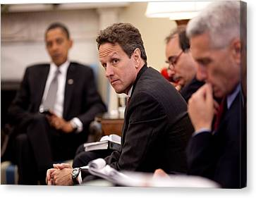 Treasury Secretary Timothy Geithner Canvas Print by Everett