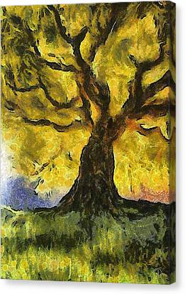 Tree  A La Van Gogh Canvas Print by Gun Legler