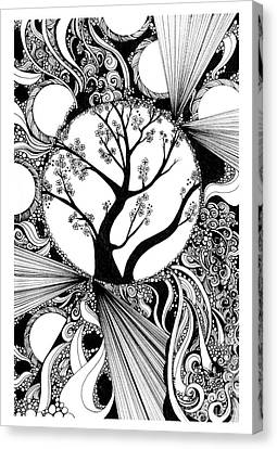 Tree Doodle 58 Canvas Print