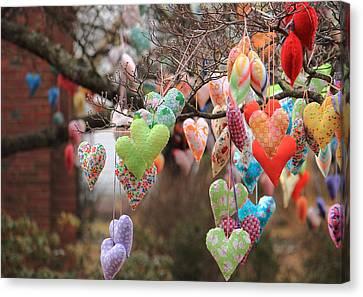 Tree Hearts Canvas Print